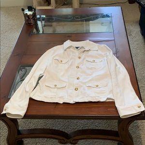 Chaps White Denim Jacket
